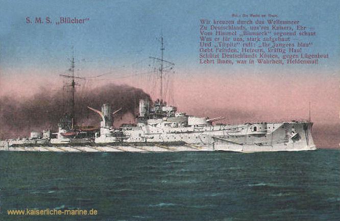 S.M.S. Blücher, Großer Kreuzer