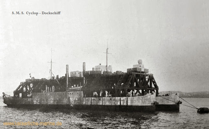 S.M.S. Cyclop, Dockschiff