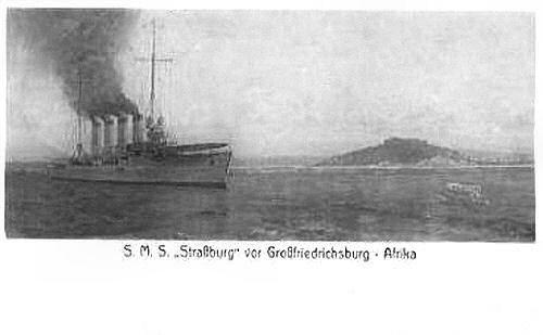 S.M.S Strassburg vor Großfriedrichsburg - Afrika