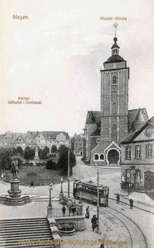 Siegen, Kaiser Wilhelm-Denkmal, Nicolai-Kirche