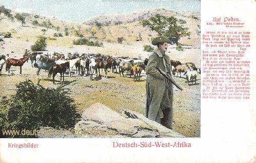 Deutsch-Südwestafrika, Kriegsbilder - Auf Posten