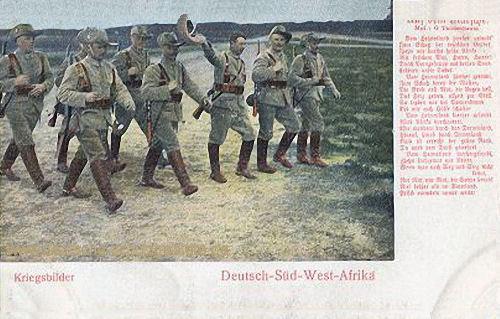 Deutsch-Südwestafrika, Kriegsbilder - Auf dem Marsche