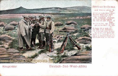 Deutsch-Südwestafrika, Kriegsbilder - Briefe aus der Heimat