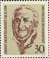 Ernst Moritz Arndt, Bundespost 1969