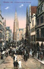 Münster i. W., Prinzipalmarkt am Sonntag