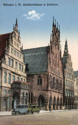 Münster i. W., Stadtweinhaus und Rathaus
