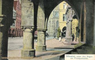 Münster i. W., Unter den Bogen am Prinzipalmarkt