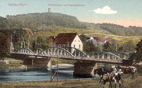 Witten, Ruhrbrücke und Helenenturm