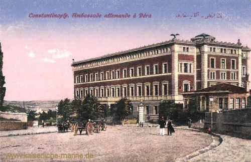 Constantinople, Ambassade allemande a Pera