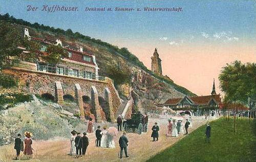 Der Kyffhäuser. Denkmal mit Sommer- und Winterwirtschaft