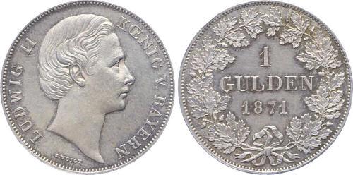 Ludwig II. König von Bayern - 1 Gulden 1871