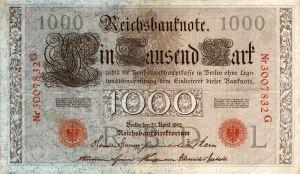 1000 Mark Reichsbanknote, 1910