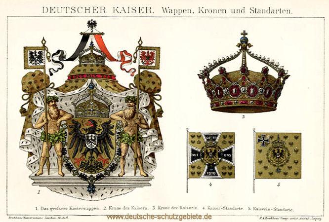 Deutscher Kaiser, Wappen, Kronen und Standarten