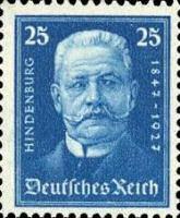 Hindenburg, 1927 ,25 Pfennig