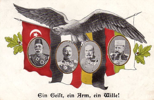 Die Mittelmächte Türkei, Deutsches Reich, Österreich-Ungarn und Bulgarien 1914