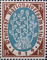 Nationalversammlung in Weimar 1919, 15 Pfennig