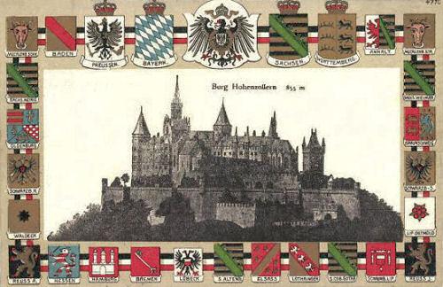 Burg Hohenzollern 855 m