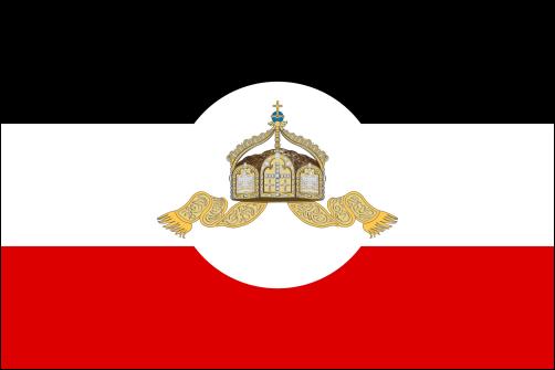 Reichsflagge der übrigen Verwaltungszweige (bis 1918)
