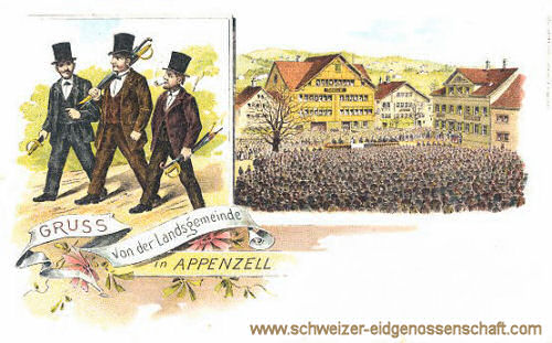 Gruss von der Landgemeinde in Appenzell
