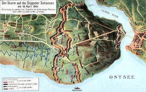 Der Sturm auf die Düppeler Schanzen am 18. April 1864
