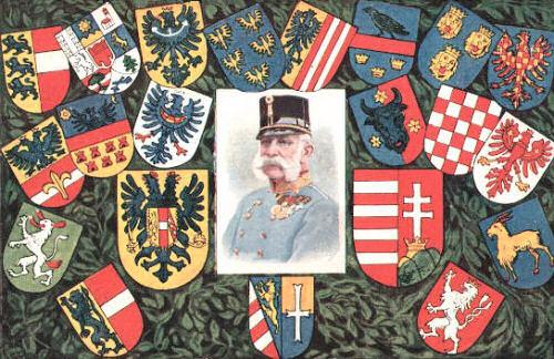 Wappen der Kronländer und Kaiser Franz Josef