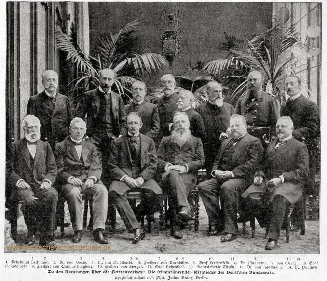 Die stimmführenden Mitglieder des Deutschen Bundesrats
