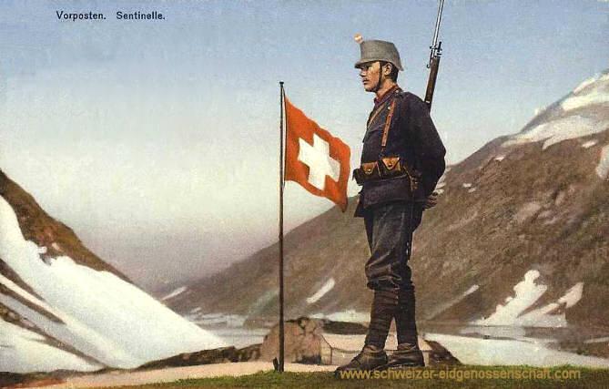 Schweizer Armee: Vorposten. Sentinelle.