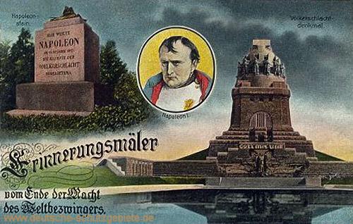 Leipzig, Napoleonstein und Völkerschlachtdenkmal