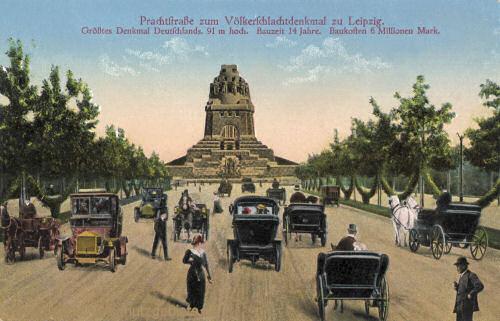 Prachtstraße zum Völkerschlachtdenkmal zu Leipzig