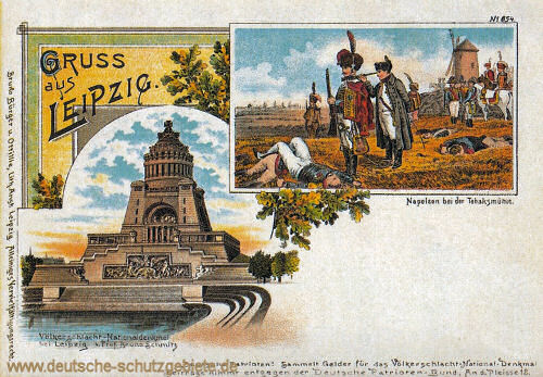 Völkerschlachtdenkmal, Napoleon bei der Tabaksmühle