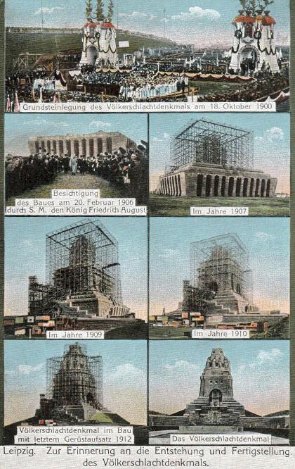 Zur Erinnerung an die Entstehung und Fertigstellung des Völkerschlachtdenkmals.