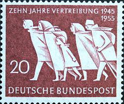 Zehn Jahre Vertreibung, Deutsche Bundespost 1955