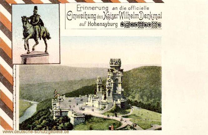 Hohensyburg, Kaiser-Wilhelm-Denkmal, Einweihung 1902