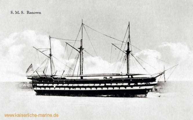 S.M.S. Renown, Hölzernes Linienschiff