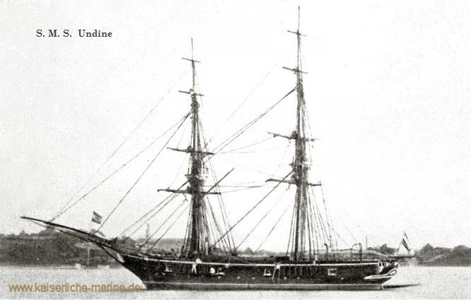 S.M.S. Undine, Segelbrigg