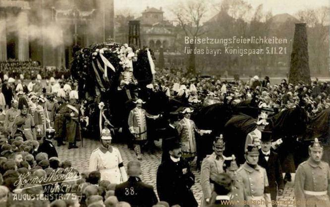 Beisetzungsfeierlichkeiten für das bayrische Königspaar am 5.11.1921