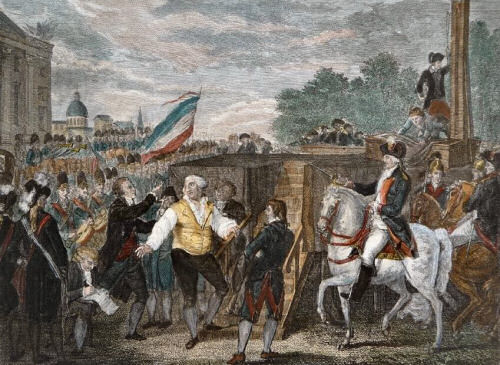Enthauptung König Ludwigs XVI. in Paris am 21. Januar 1793