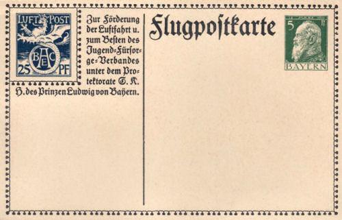 Flugpostkarte 1912