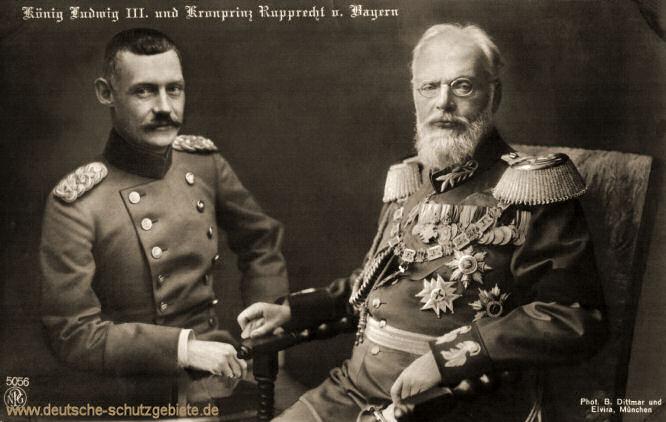 König Ludwig III. und Kronprinz Rupprecht von Bayern