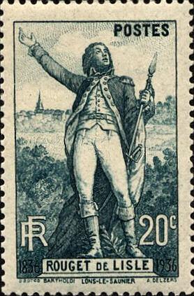 RF Postes, Rouget de Lisle, 20 C, 1936