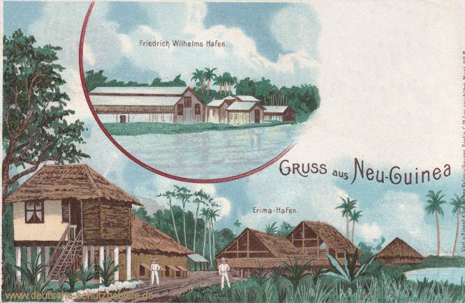 Deutsch-Neuguinea, Friedrich Wilhelms Hafen, Erima-Hafen