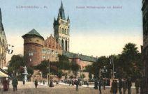 Königsberg, Kaiser Wilhelmsplatz mit Schloß