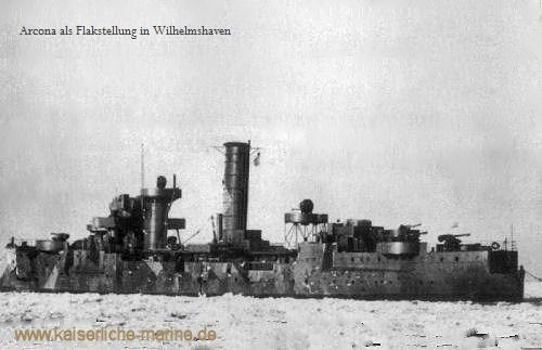Arcona als Flakstellung in Wilhelmshaven