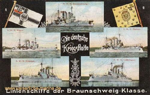 Braunschweig-Klasse, Linienschiffe