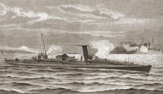 Ein Schichau'sches Torpedoboot