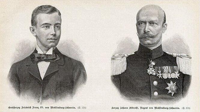 Großherzog Friedrich Franz IV von Mecklenburg-Schwerin und Herzog Johann Albrecht, Regent von Mecklenburg-Schwerin