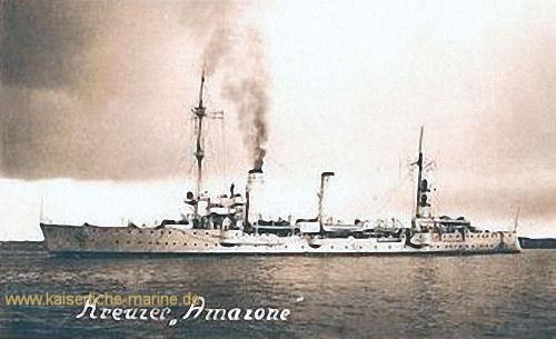 """Kreuzer """"Amazone"""", als Schiff der Reichsmarine"""