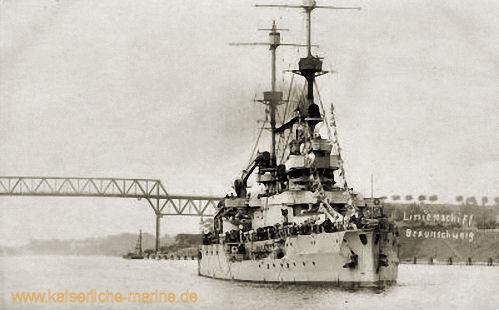 S.M.S. Braunschweig im Kaiser Wilhelm-Kanal