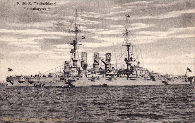 S.M.S. Deutschland, Flottenflaggschiff