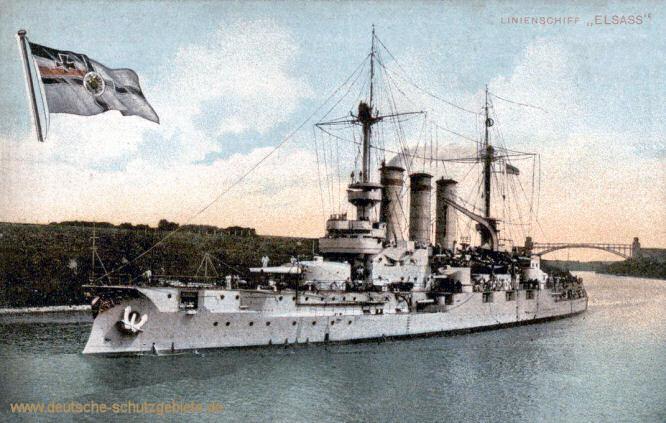 S.M.S. Elsass, Linienschiff